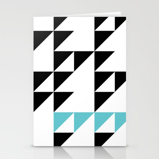 Tri Pixel Stationery Cards