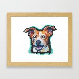 Fun Jack Russell Terrier Portrait bright colorful Dog  Pop Art by LEA Framed Art Print