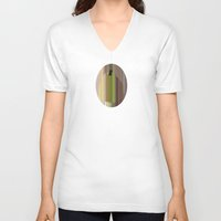 pear V-neck T-shirts featuring Pear by Robert Cooper