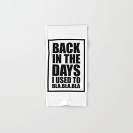 Back in the days Hand & Bath Towel