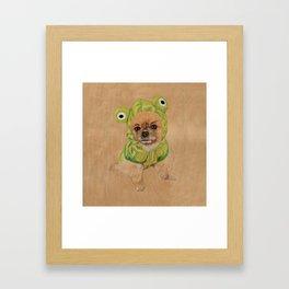 Littlle Greenie Framed Art Print