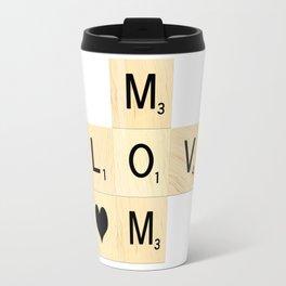 MOM - Mother's Day Scrabble Art Travel Mug