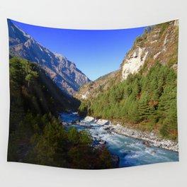 Himalayan River Wall Tapestry