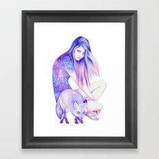 Galaxy Wanderer Framed Art Print