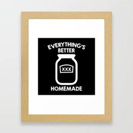 Everything's Better Homemade Framed Art Print