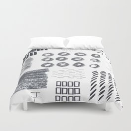 Abstract Marks Nr 1 Duvet Cover