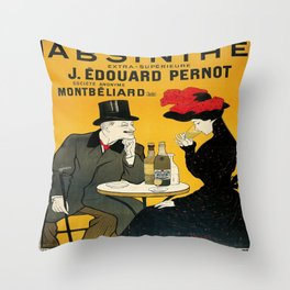 Vintage poster - Absinthe Throw Pillow