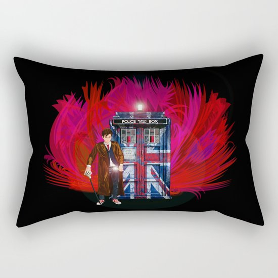 British Tardis with 10th Doctor who iPhone 4 4s 5 5c 6, pillow case, mugs and tshirt Rectangular Pillow