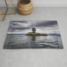 Twin Trees on an Island - Resurrection Bay, Alaska Rug