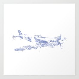Spitfire (Biro) Art Print