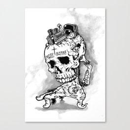 HOT SKULL Canvas Print
