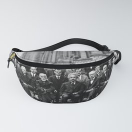 World-Renowned Physicists of 1927 at Solvay Conference Fanny Pack