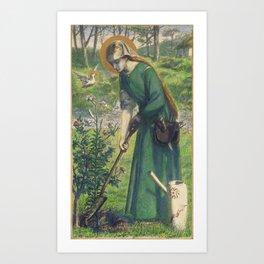 Dante Gabriel Rossetti Mary Nazarene 1857 Art Print