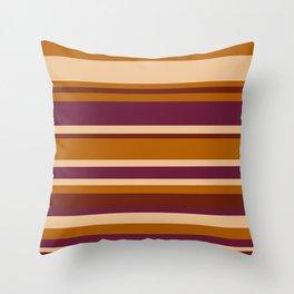 90's Stripes Throw Pillow
