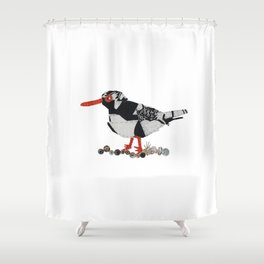 Oystercatcher Shower Curtain