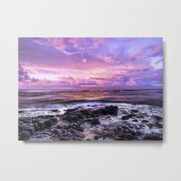 Purple Sunrise, Poipu Beach, Kauai, Hawaii Metal Print