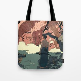 Tell a Dragon Colorful Stories part 2 Tote Bag