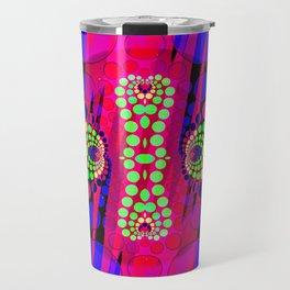 Neon Waves Travel Mug