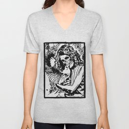 Two caged birds, at peace with this cage of a world  Unisex V-Neck