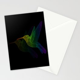 Rainbow Hummingbird Stationery Cards