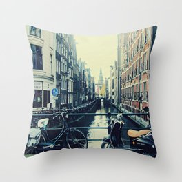 Coffee street- Amsterdam Throw Pillow