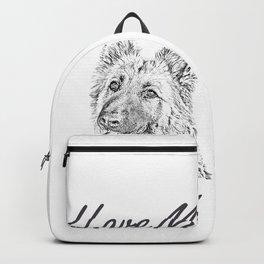 I Love My Alsatian Backpack