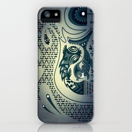 Midnight swirls iPhone Case