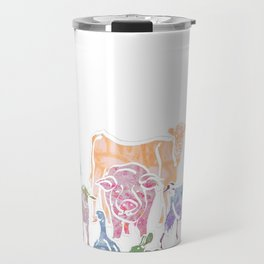 The Colourful Farm Sanctuary Travel Mug