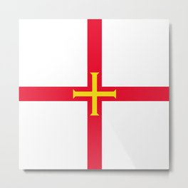 flag of Guernsey Metal Print