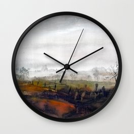 Misty meadow Wall Clock