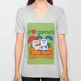 Ernest | Loves games Unisex V-Neck