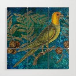 Carolina Parakeet with Cypress, Antique Natural History and Botanical Wood Wall Art