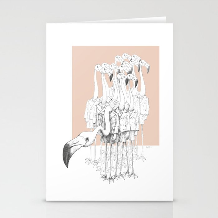 Weird & Wonderful: Flamingo Boys Stationery Cards