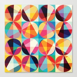 Beautiful colors Geometry, geometric abstract triangles circles squares Canvas Print