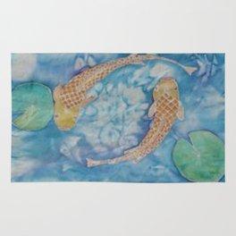 Koi Pond Batik Rug