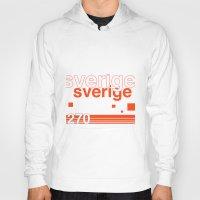 sweden Hoodies featuring Sweden stamp  by Little Parcels Shop