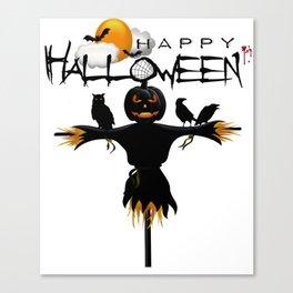 Scarecrow Pumpkin Halloween Shirt Classic T-Shirt Canvas Print
