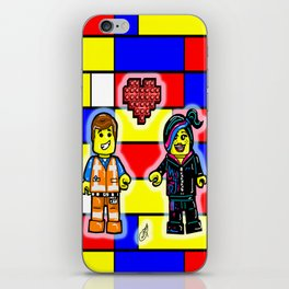 The Lego Movie Valentine with Emmett and Wyldestyle (Lucy) iPhone Skin
