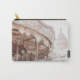 Montmartre Paris Carousel with Sacre Coeur Carry-All Pouch