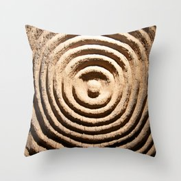 Abstract Wood Art Throw Pillow