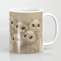 kittens Mugs featuring Kittens by Antracit