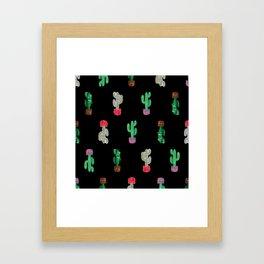 Crooked Cacti. Framed Art Print