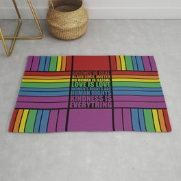 Science is real... Inspirational Fashion Rug