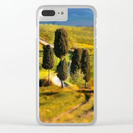 Postards from Italy - Toscany Clear iPhone Case