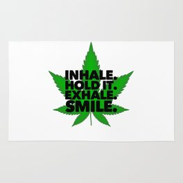 Inhale the smoke | pot weed gift idea Rug