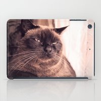 cookie iPad Cases featuring Cookie by Rachel's Pet Portraits
