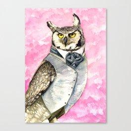 Dapper Owlish Fellow Canvas Print