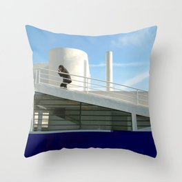 savoye glitch Throw Pillow