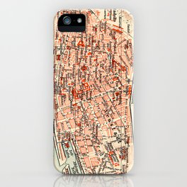 Vintage Map of Mainz Germany (1905) iPhone Case