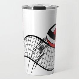 Volleyball Sport Game - Net - Red Travel Mug